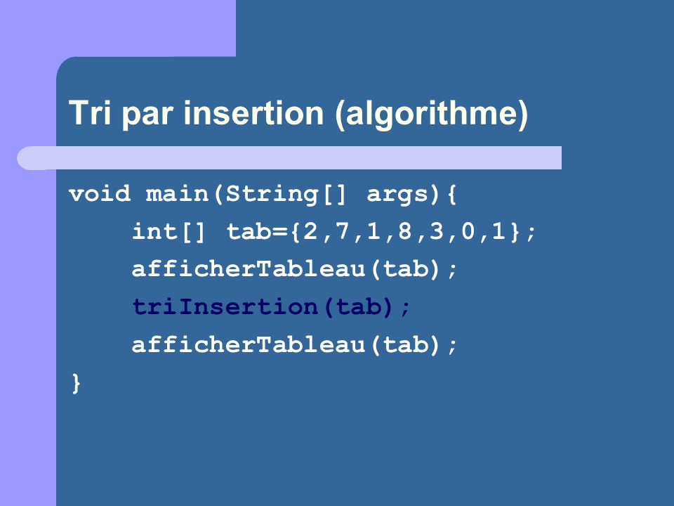 Tri par insertion (algorithme)