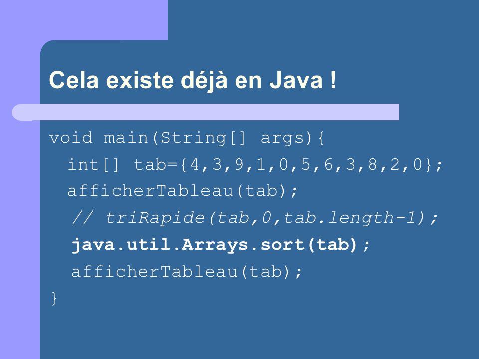 Cela existe déjà en Java !