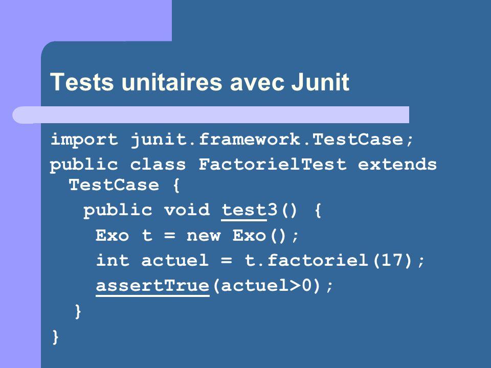 Tests unitaires avec Junit