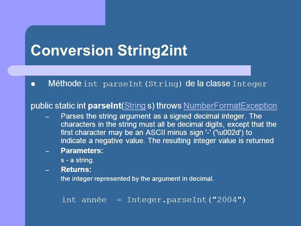 int année = Integer.parseInt( 2004 )