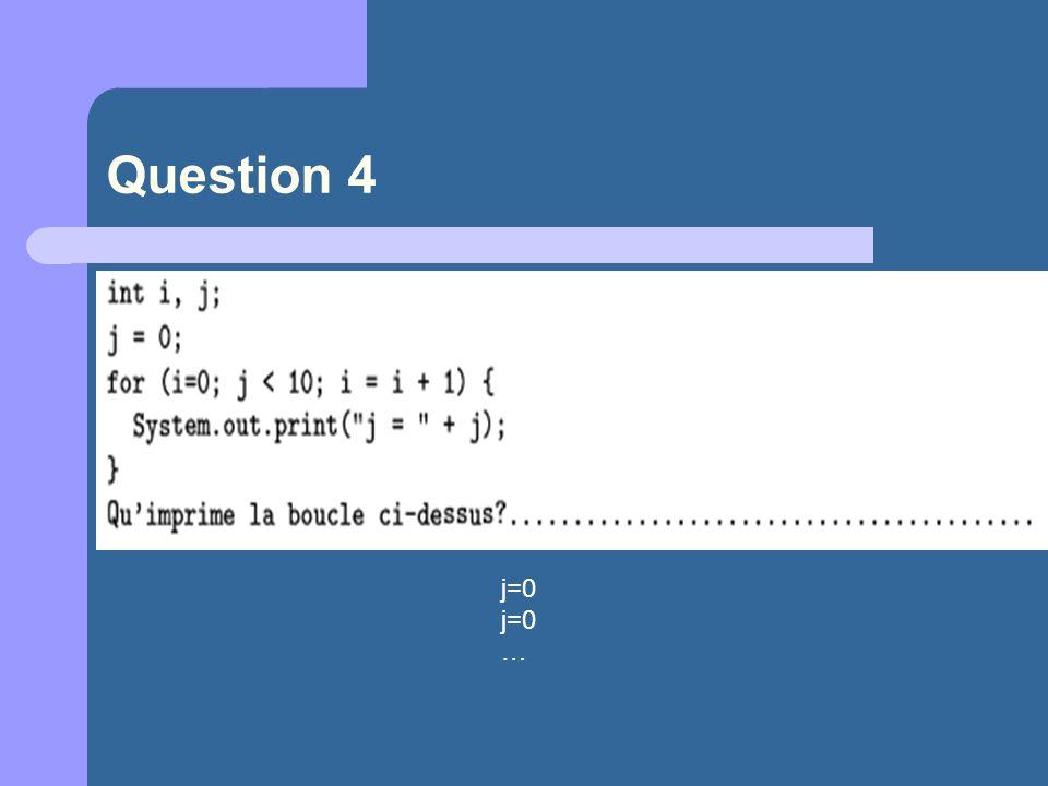 Question 4 j=0 …