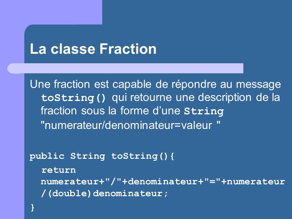 La classe Fraction