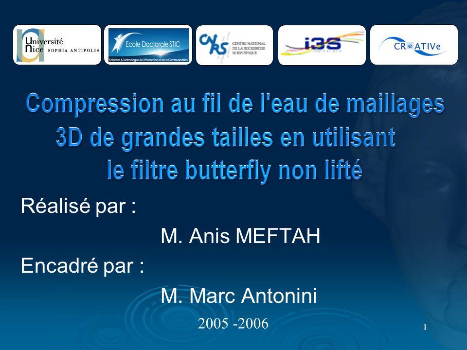 Réalisé par : M. Anis MEFTAH Encadré par : M. Marc Antonini