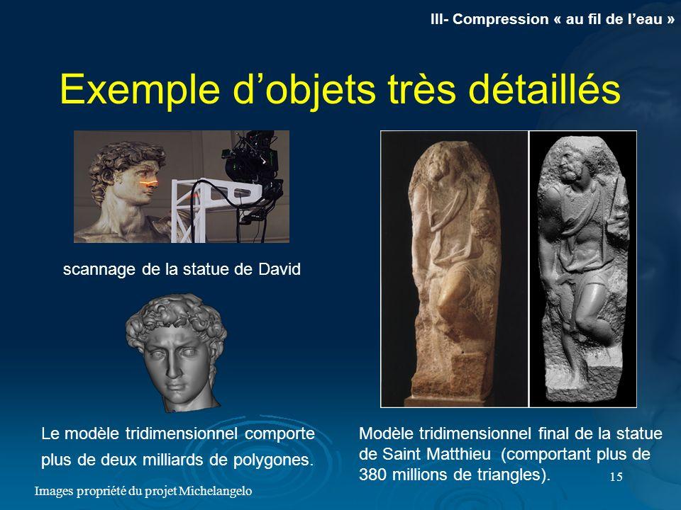 Exemple d'objets très détaillés