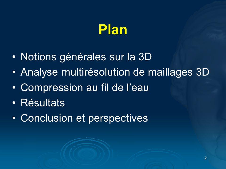 Plan Notions générales sur la 3D