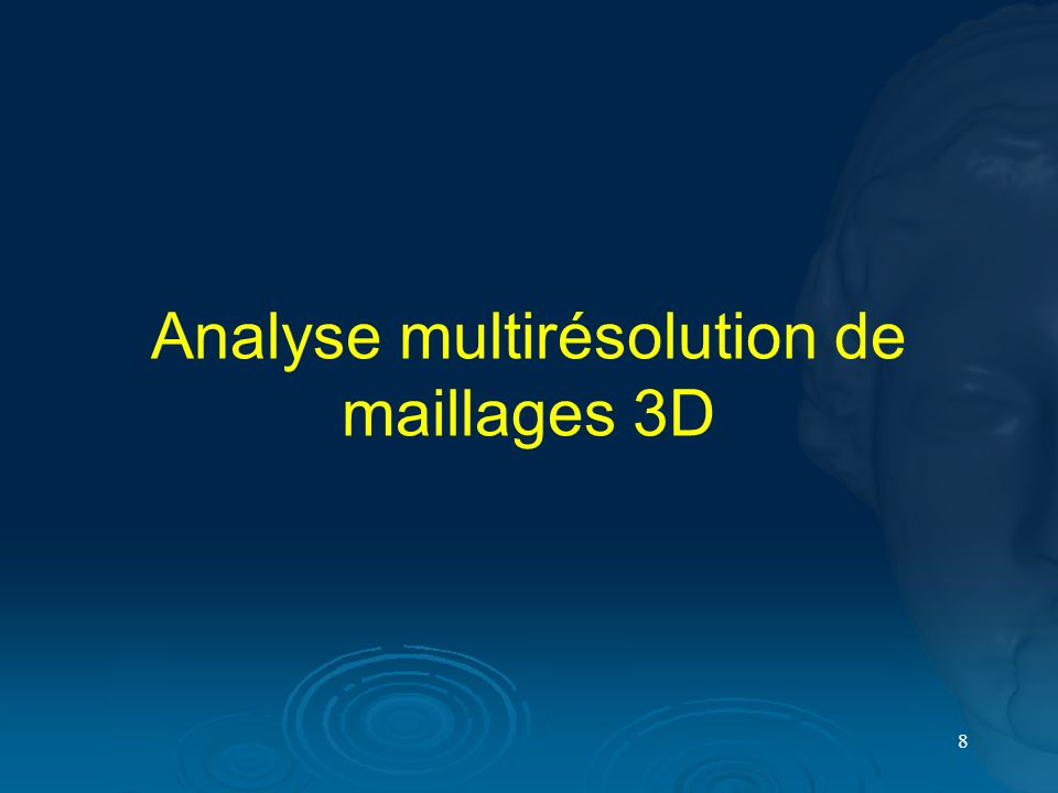 Analyse multirésolution de maillages 3D