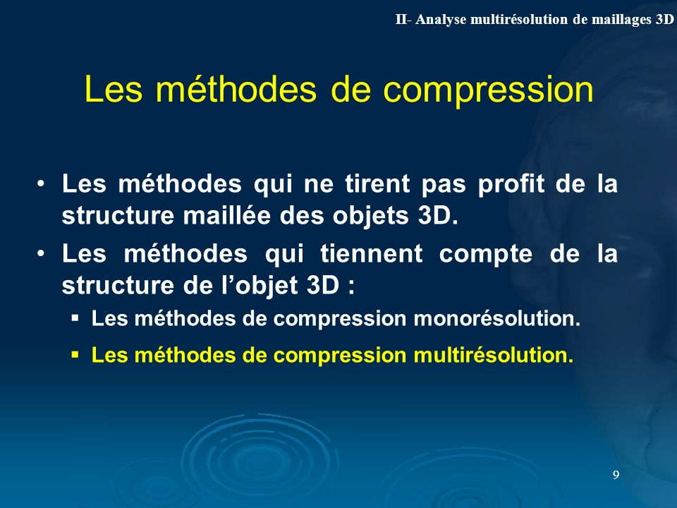Les méthodes de compression