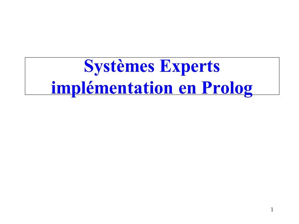 Systèmes Experts implémentation en Prolog