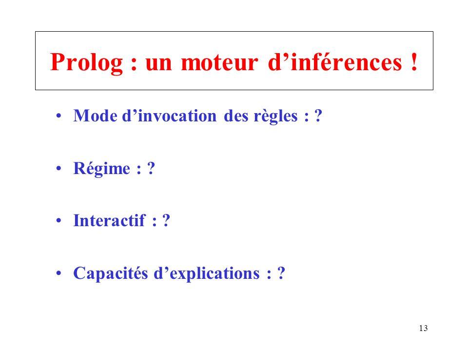 Prolog : un moteur d'inférences !