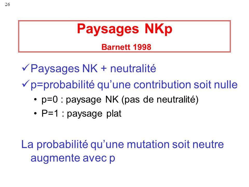 Paysages NKp Barnett 1998 Paysages NK + neutralité