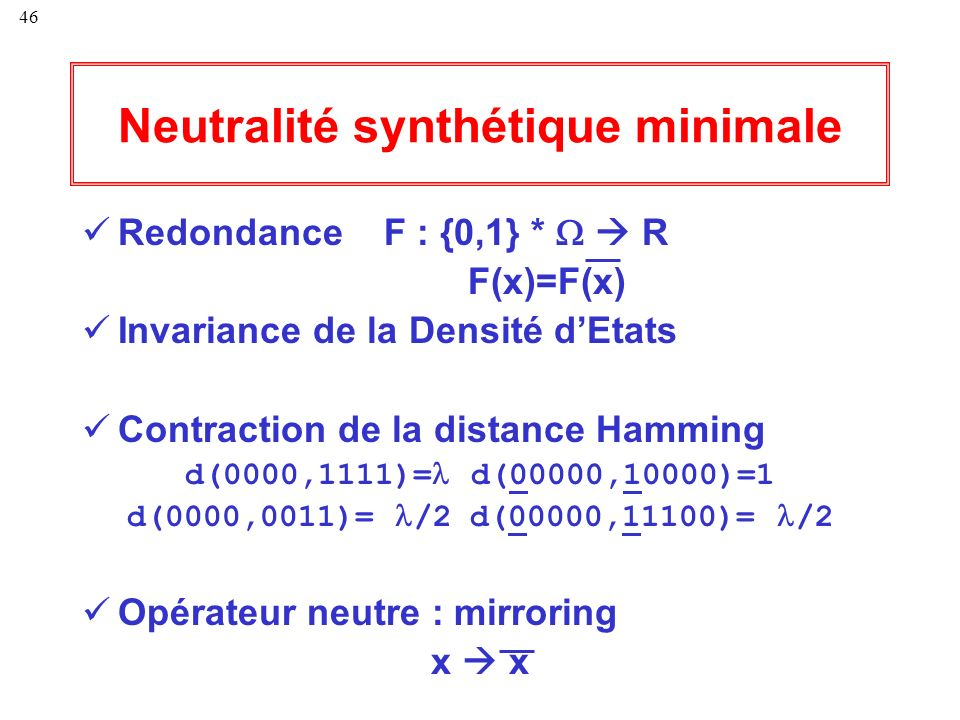 Neutralité synthétique minimale