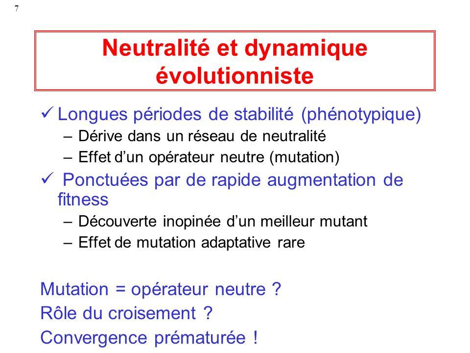 Neutralité et dynamique évolutionniste
