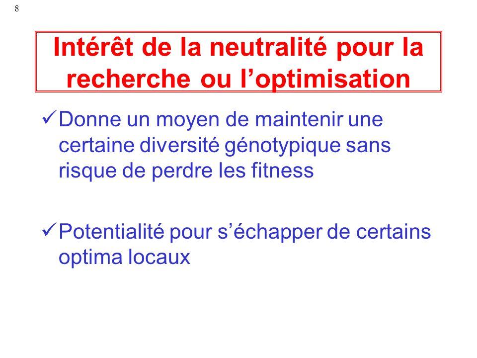 Intérêt de la neutralité pour la recherche ou l'optimisation