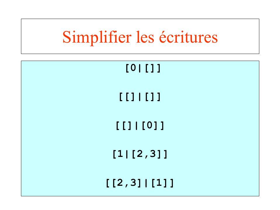 Simplifier les écritures