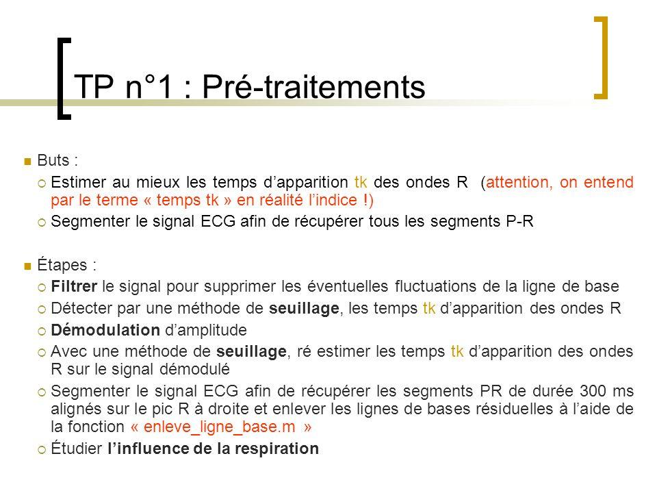 TP n°1 : Pré-traitements
