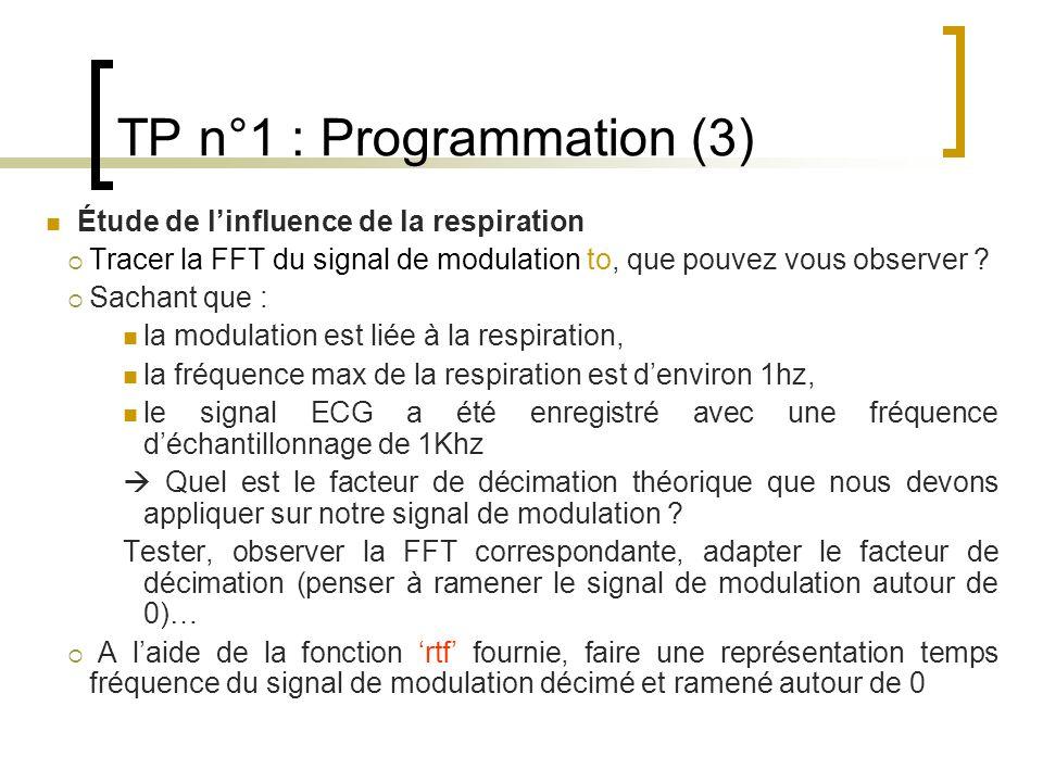 TP n°1 : Programmation (3)