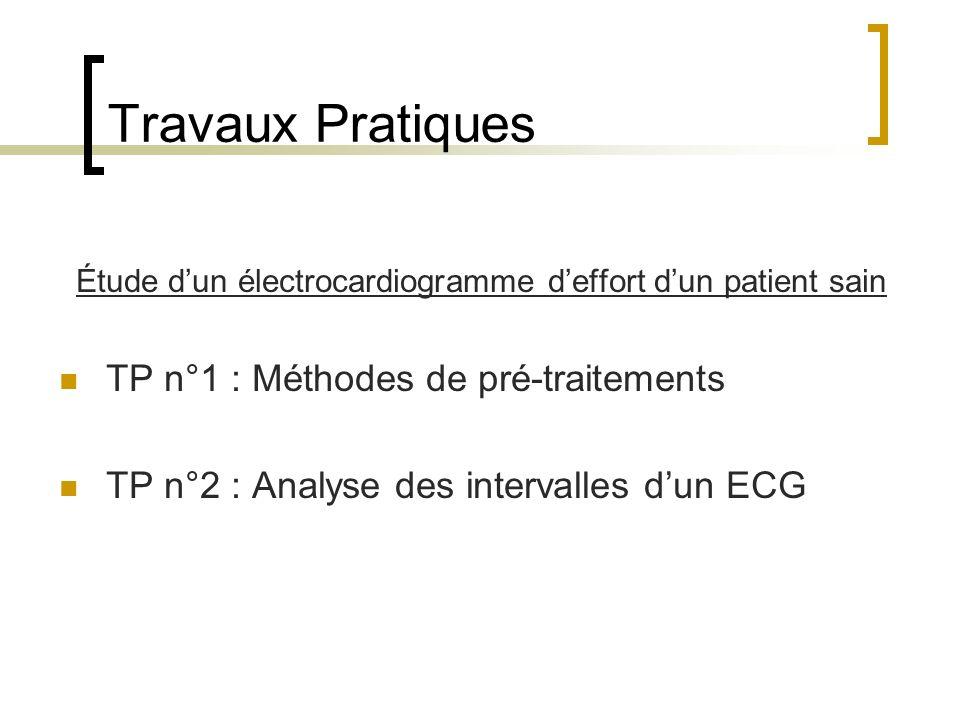 Étude d'un électrocardiogramme d'effort d'un patient sain