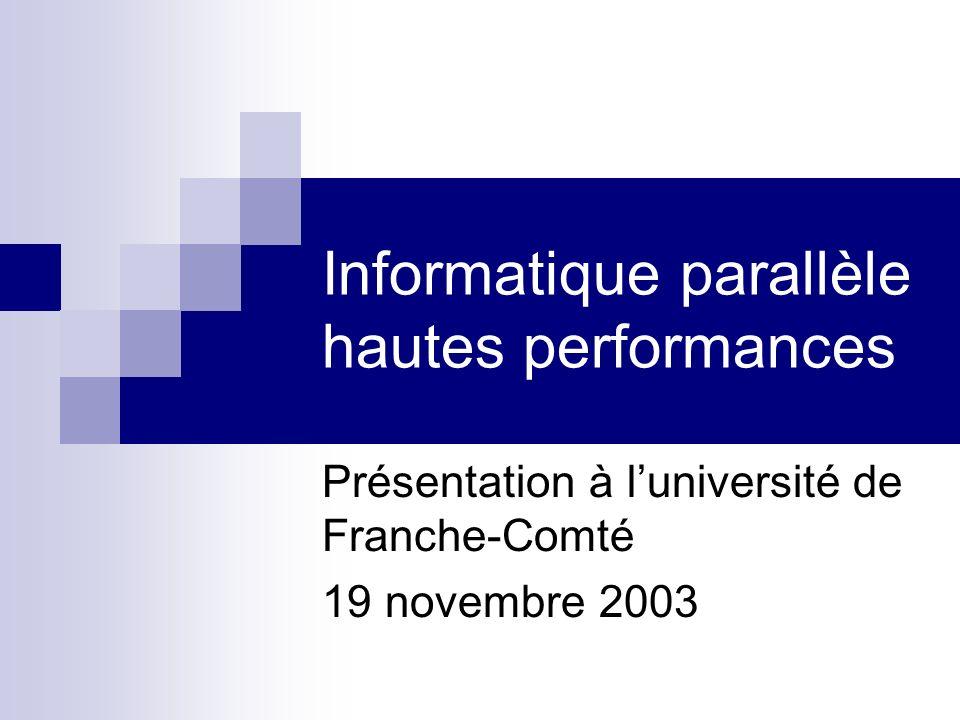 Informatique parallèle hautes performances