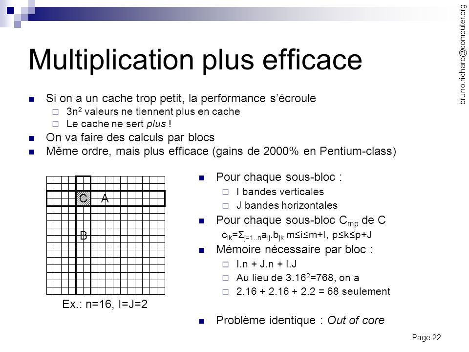 Multiplication plus efficace