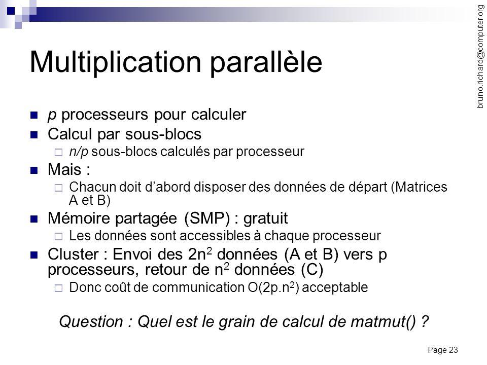 Multiplication parallèle