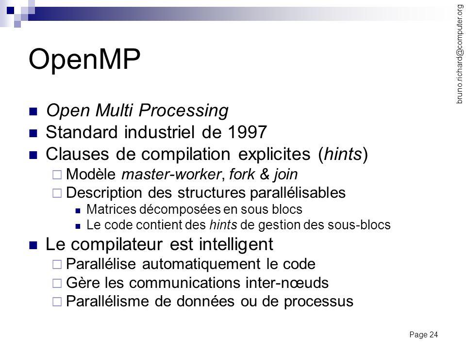 OpenMP Open Multi Processing Standard industriel de 1997