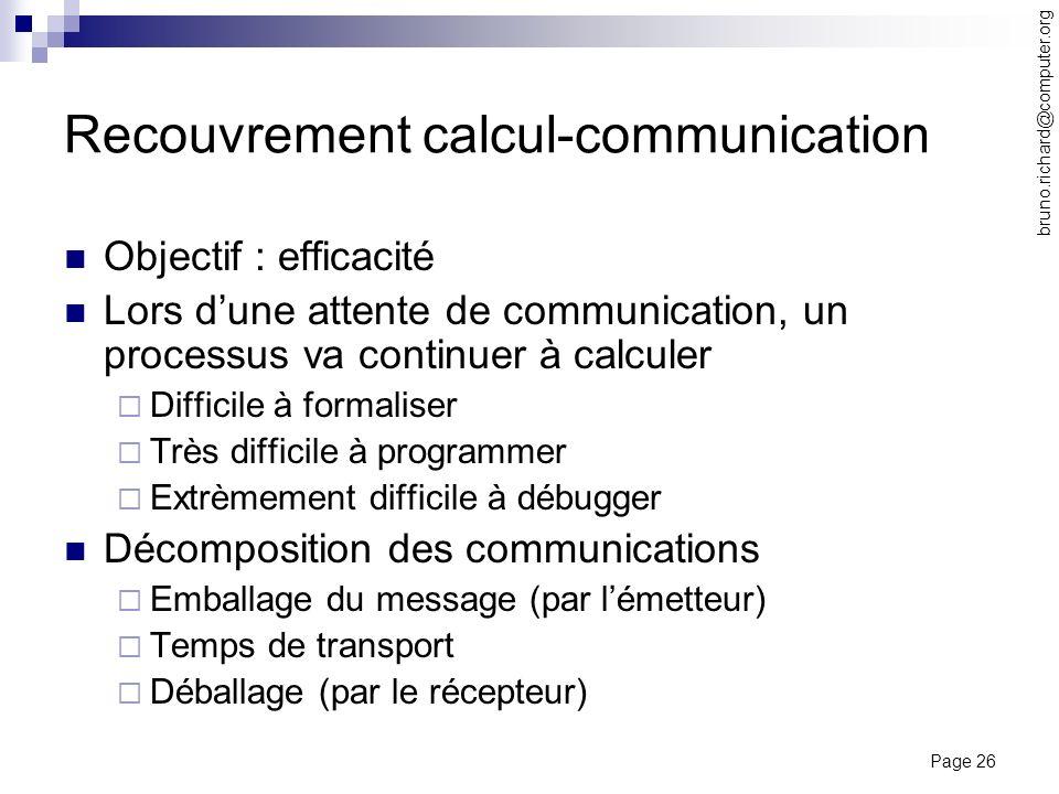 Recouvrement calcul-communication