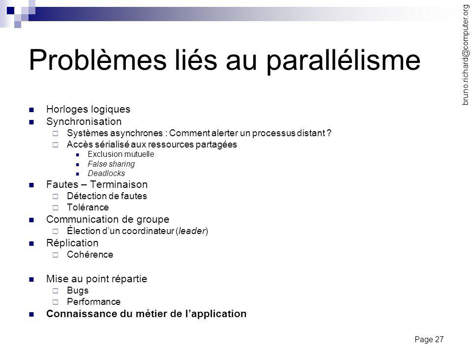 Problèmes liés au parallélisme