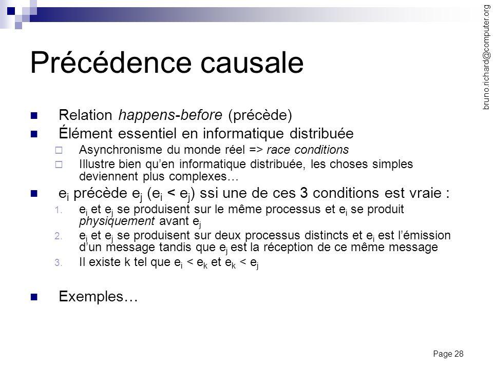 Précédence causale Relation happens-before (précède)