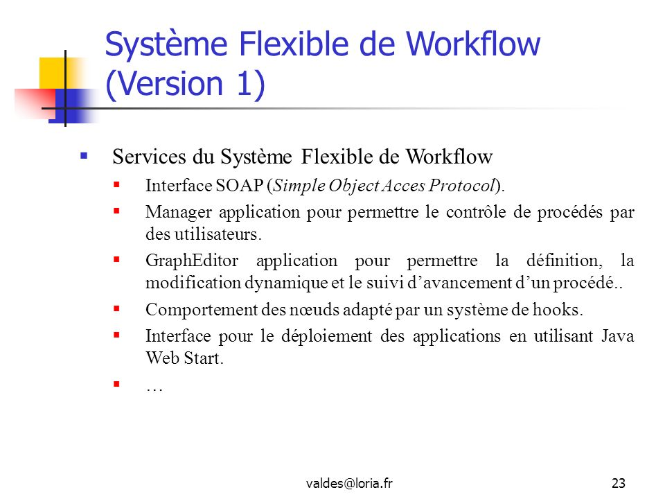 Système Flexible de Workflow (Version 1)