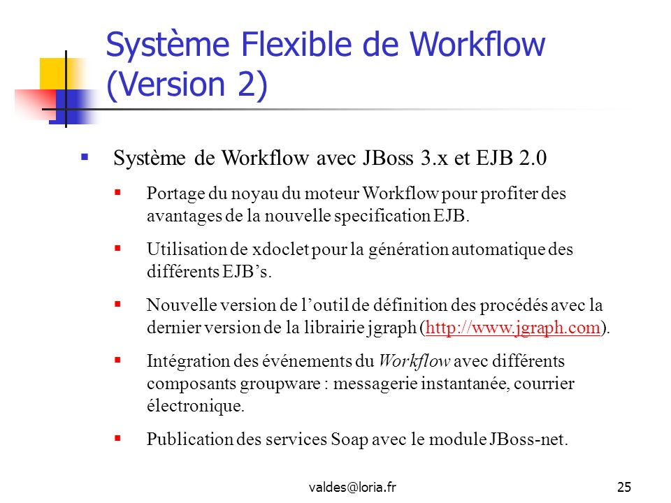Système Flexible de Workflow (Version 2)