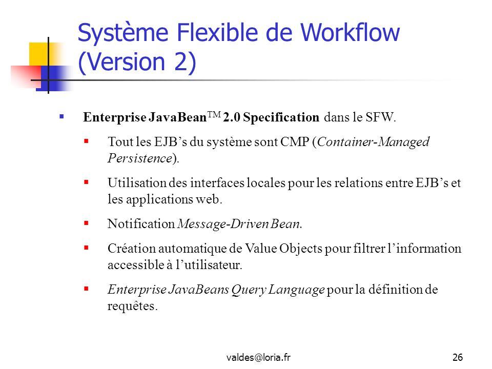 Système Flexible de Workflow (Version 2)