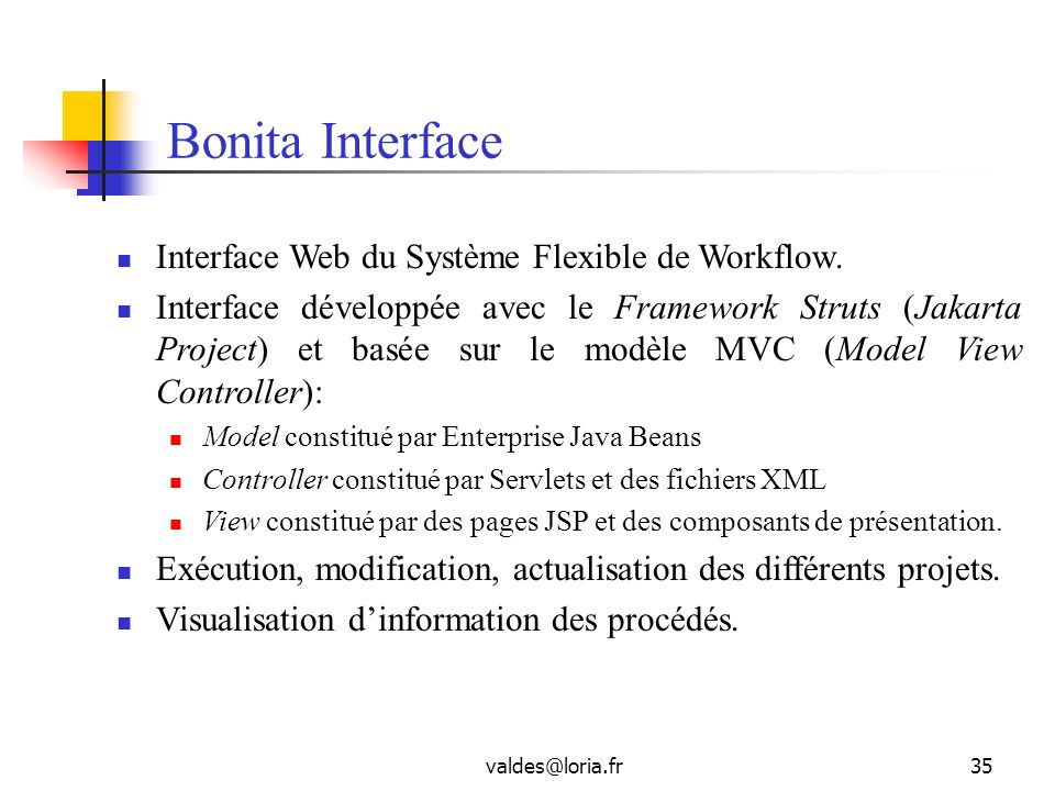 Bonita Interface Interface Web du Système Flexible de Workflow.