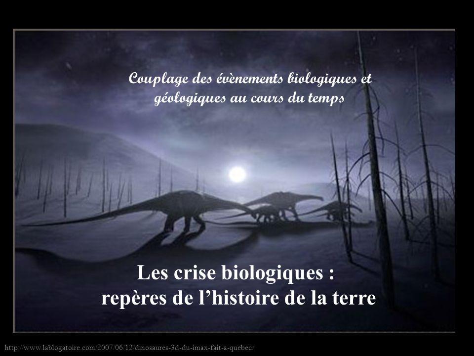 Les crise biologiques : repères de l'histoire de la terre
