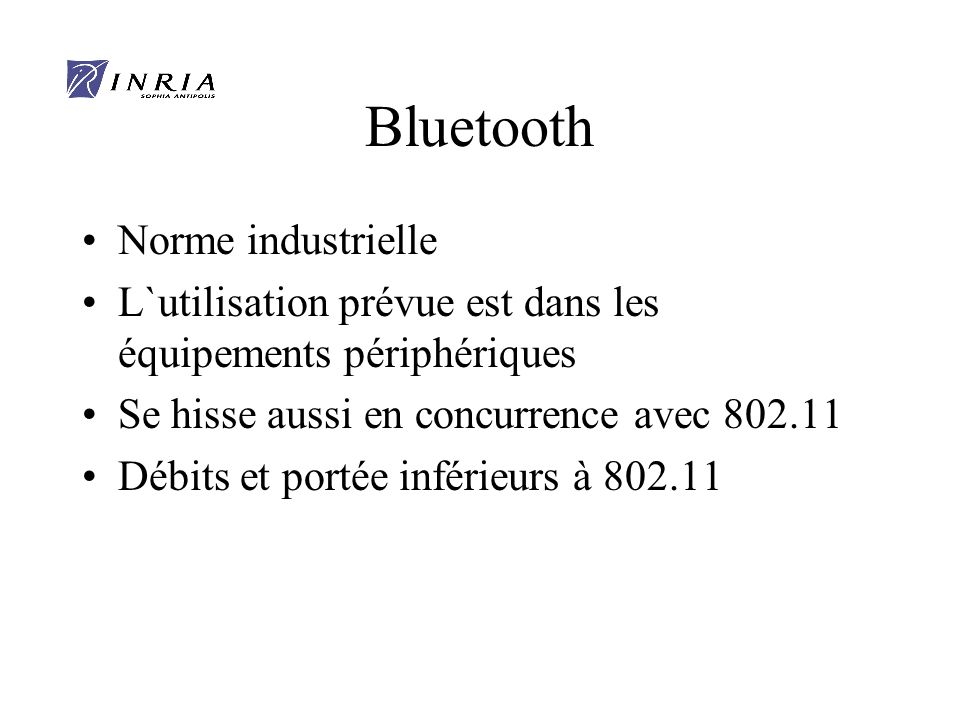 Bluetooth Norme industrielle