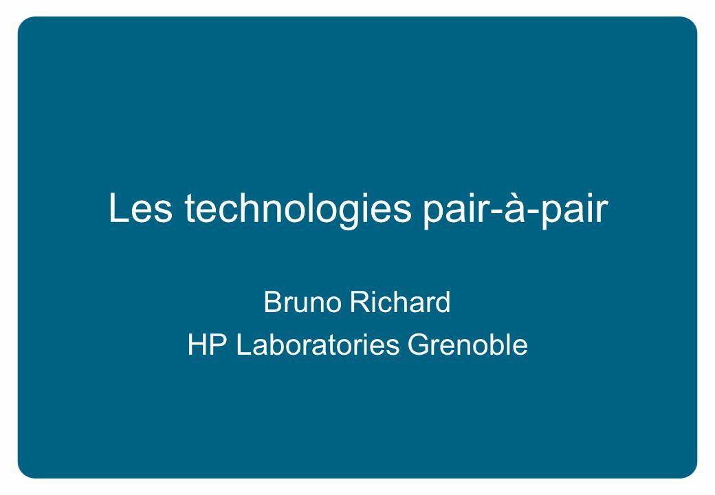 Les technologies pair-à-pair