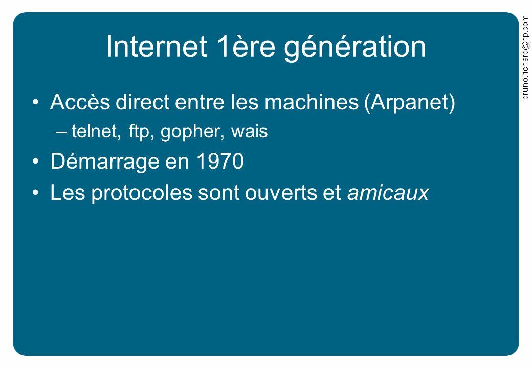 Internet 1ère génération