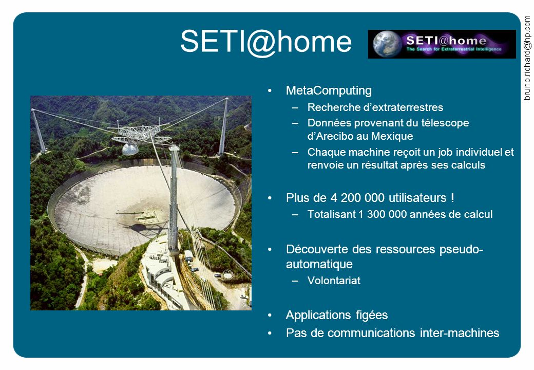 SETI@home MetaComputing Plus de 4 200 000 utilisateurs !