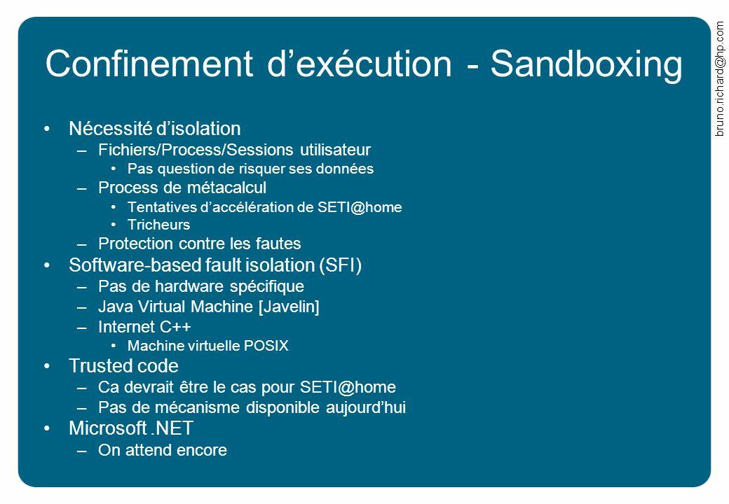 Confinement d'exécution - Sandboxing