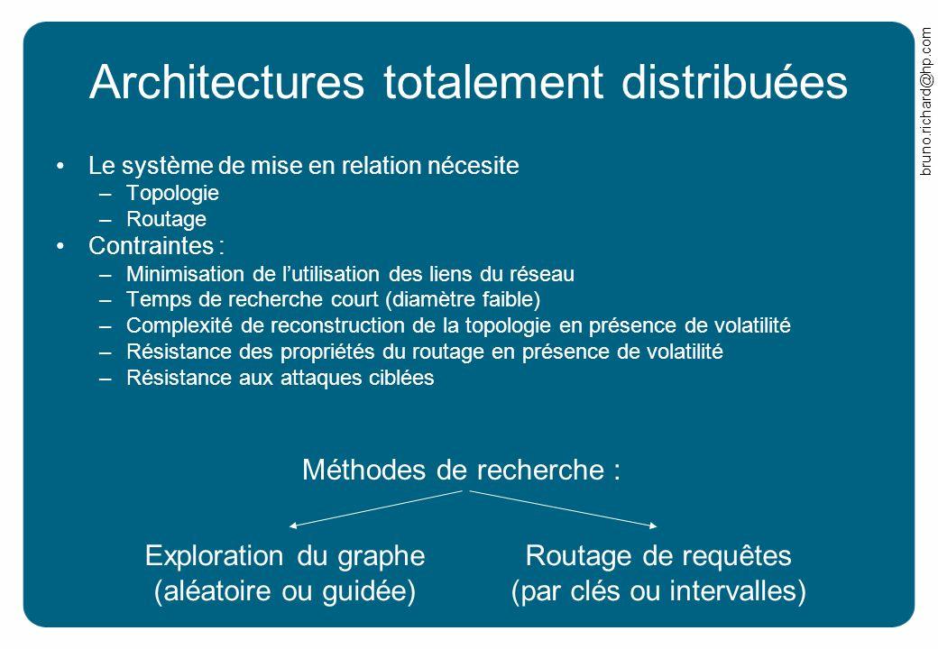 Architectures totalement distribuées