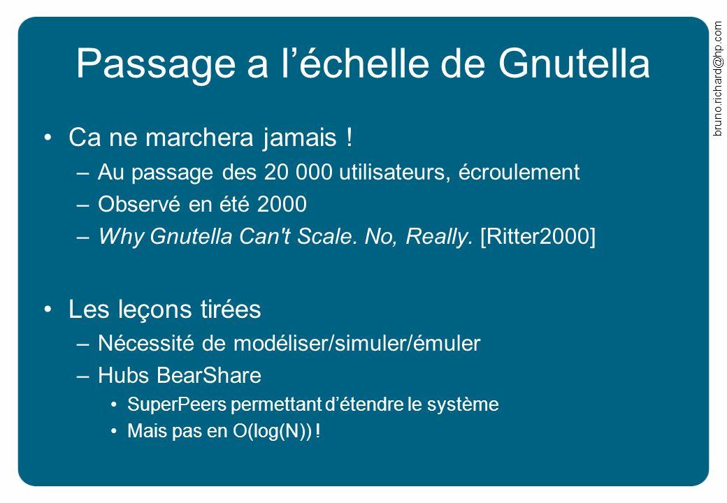 Passage a l'échelle de Gnutella