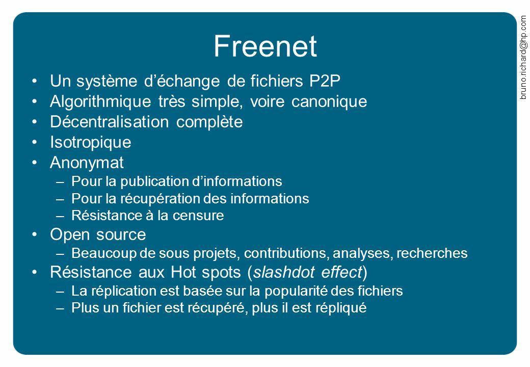 Freenet Un système d'échange de fichiers P2P