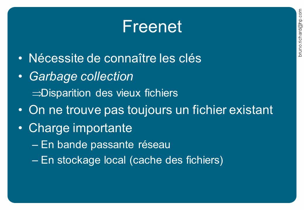 Freenet Nécessite de connaître les clés Garbage collection