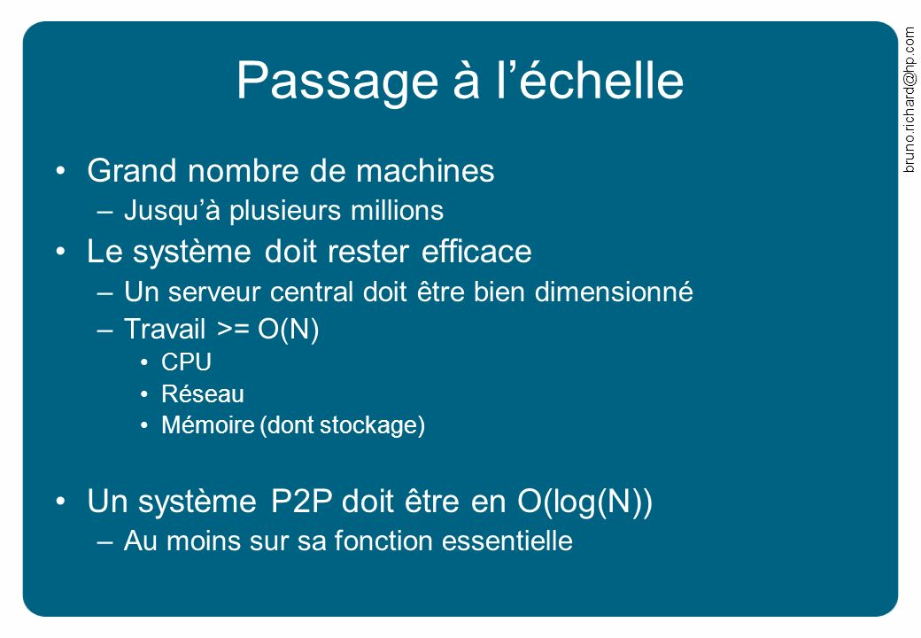 Passage à l'échelle Grand nombre de machines