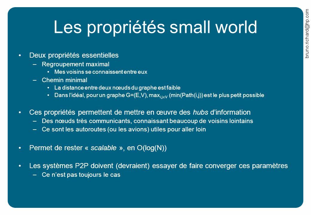 Les propriétés small world