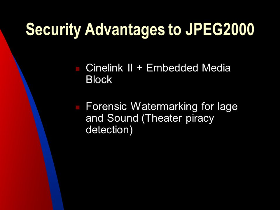 Security Advantages to JPEG2000