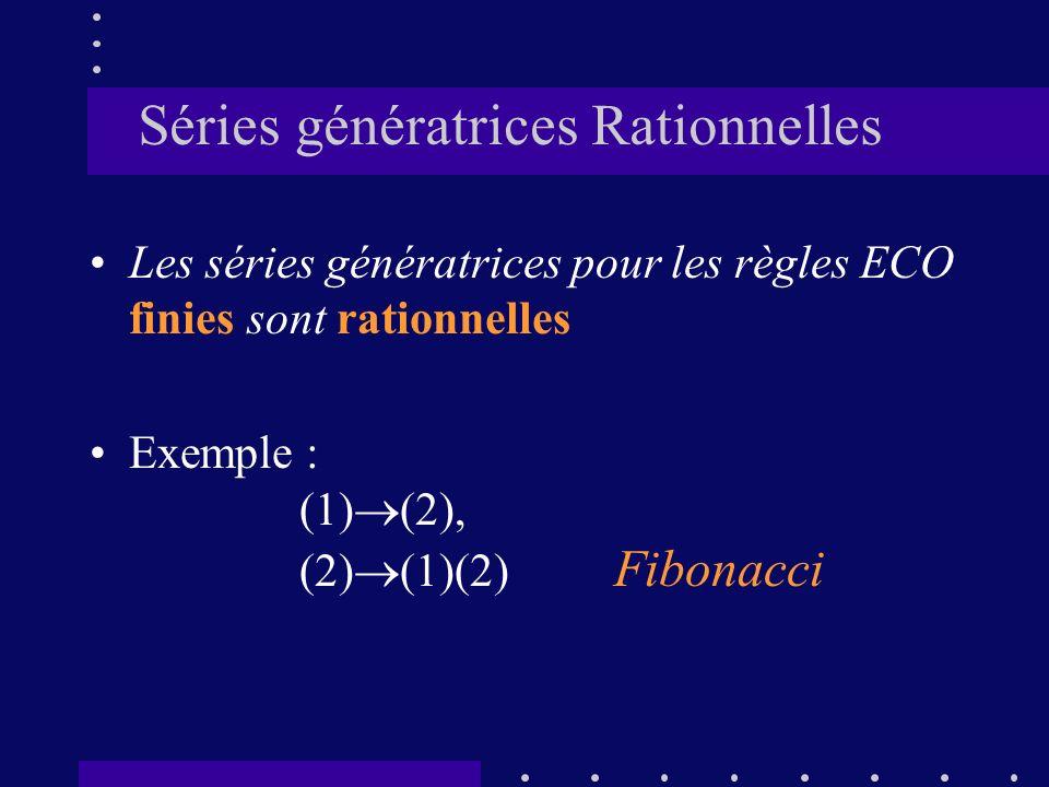 Séries génératrices Rationnelles