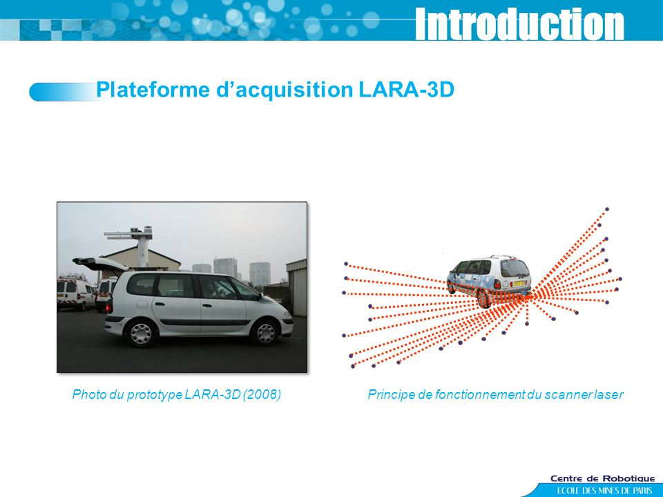 Introduction Plateforme d'acquisition LARA-3D