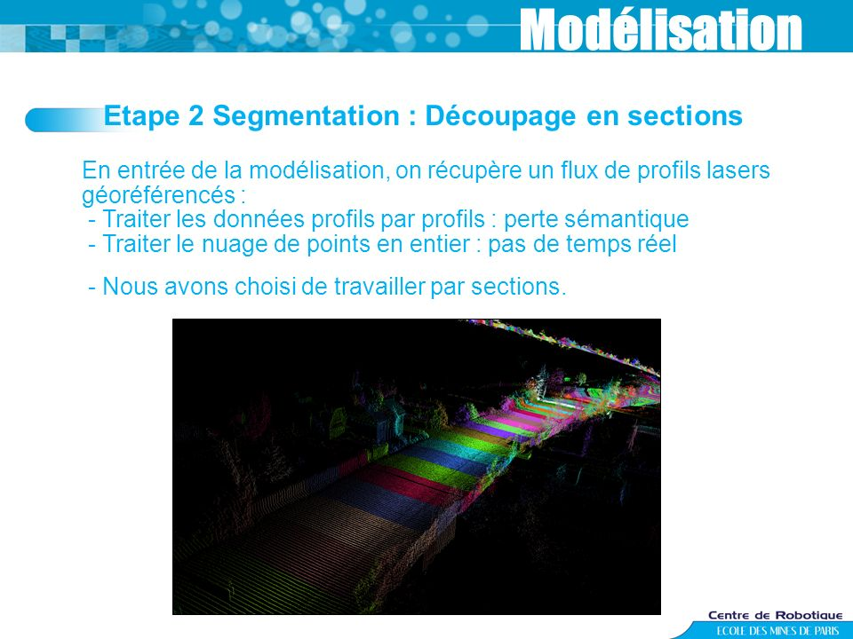 Modélisation Etape 2 Segmentation : Découpage en sections