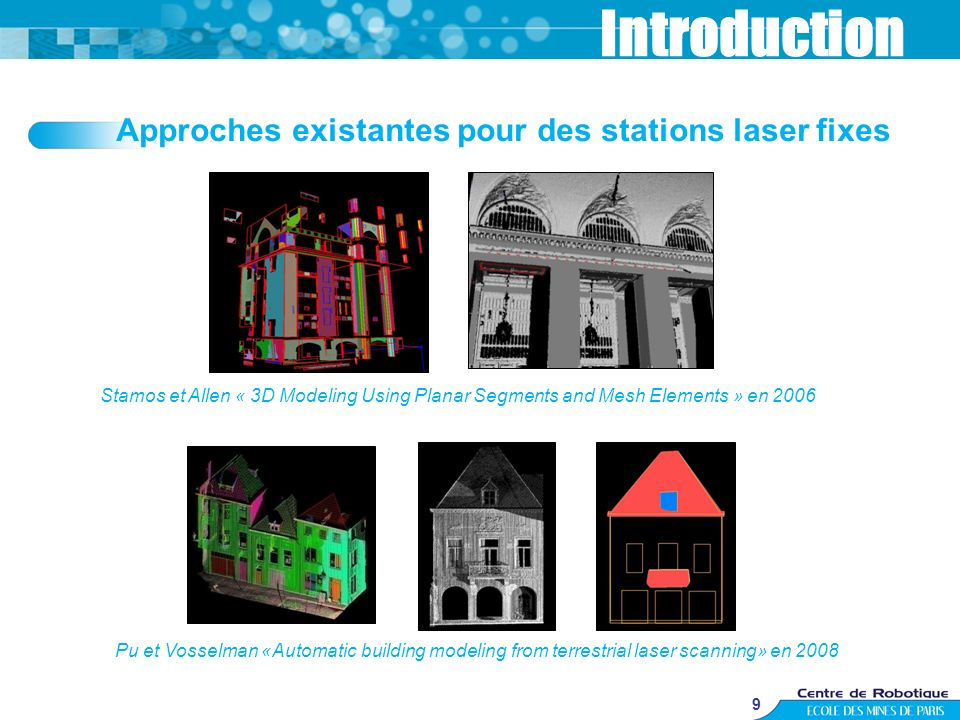 Introduction Approches existantes pour des stations laser fixes