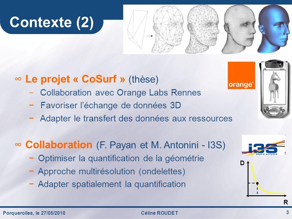 Contexte (2) Le projet « CoSurf » (thèse)